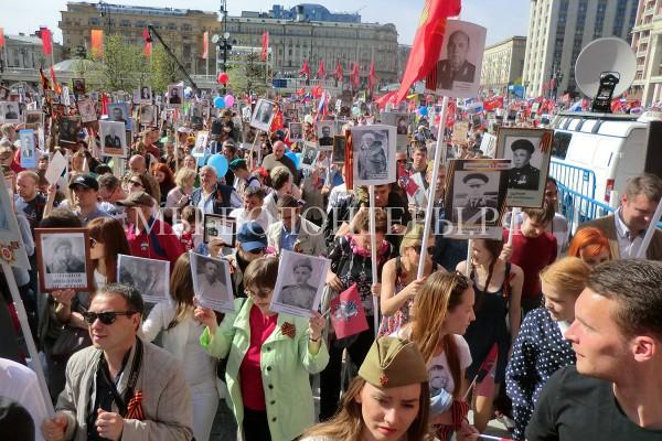 Бессмертный Полк, Москва, 09 Мая 2015 — 70 лет Победе, фотообзор