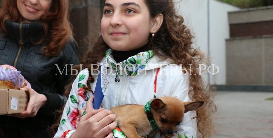 Девочка из Севастополя получила в подарок от Президента России щенка