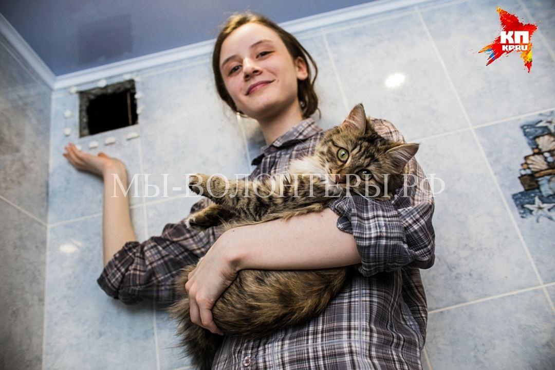 Школьница из Челябинска спасла кошку из вентиляционной шахты многоэтажки3