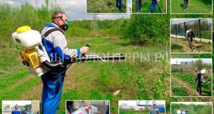 Проведена противоклещевая обработка вокруг приюта Щербинка