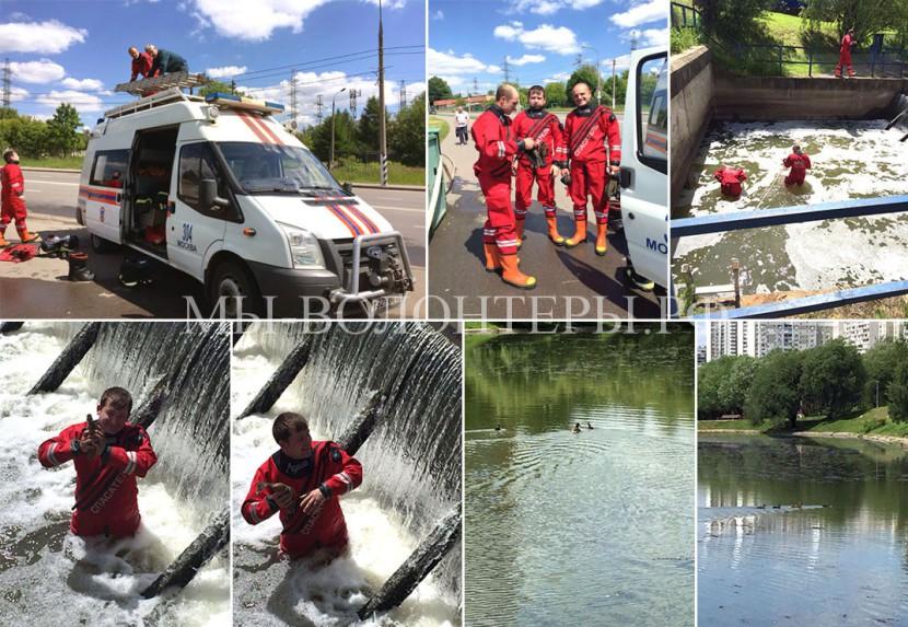 МЧС спасает утят в С.Бутово — от наших коллег Екатерины Пономаревой  и Елены Ивашкиной
