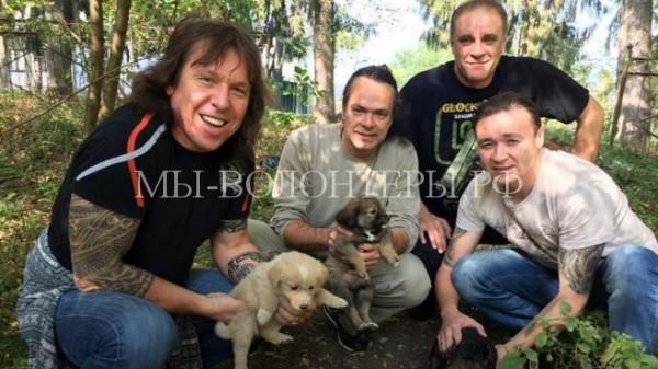 Музыканты «Арии» не остались равнодушными к судьбе щенков