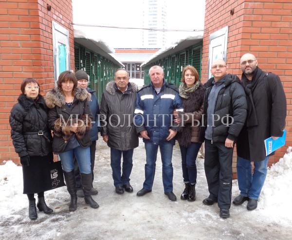 Встреча волонтеров приюта Щербинка с  Азнауровым Г.А., представителем ГБУ «Автодор ЮЗАО»