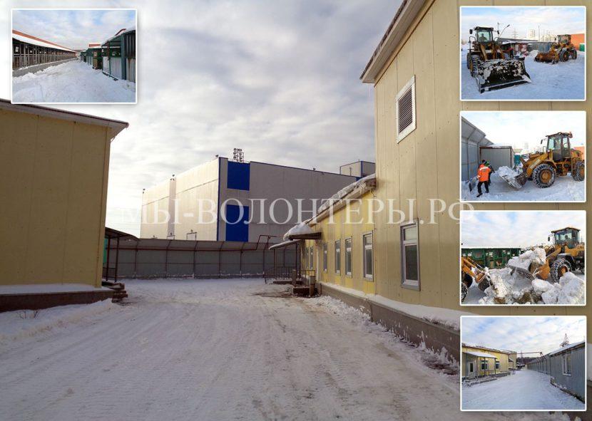 В приюте Щербинка завершена уборка территории от снега силами ГБУ Автодор ЮЗАО