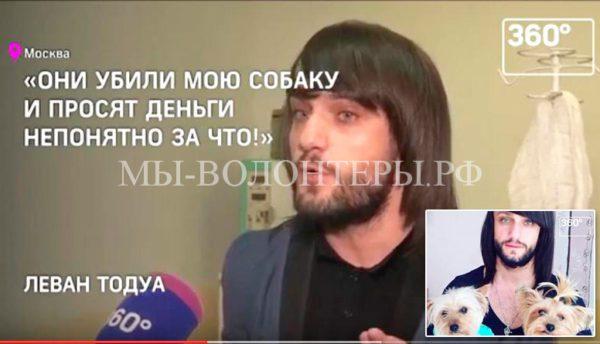 Леван Тодуа потерял любимицу Шерли в ветклинике Москвы
