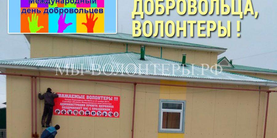 С Днем добровольца, волонтеры ! Поздравление от администрации приюта Щербинка !