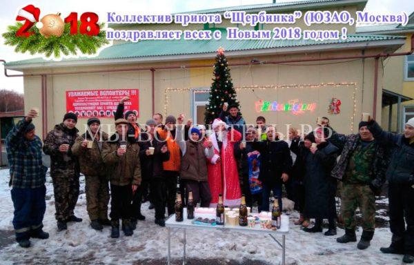 Коллектив  «Приюта Щербинка» ГБУ Автодор ЮЗАО  поздравляет всех с новым 2018 годом !!