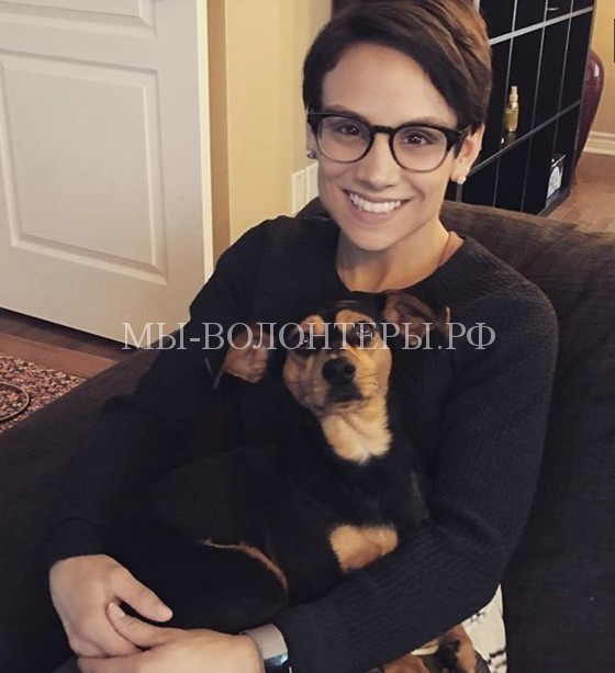 Фигуристка из Канады забрала себе собаку с корейской собачьей фермы