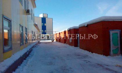 Приют Щербинка — капитальная уборка снега с территории