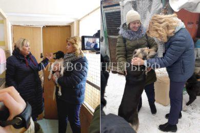 Приют ЮВАО «Некрасовка»:  Н.В.Кораблина (зам.руков. ДЖКХ г.Москвы) на  открытии изолятора для щенков и  собак после операции